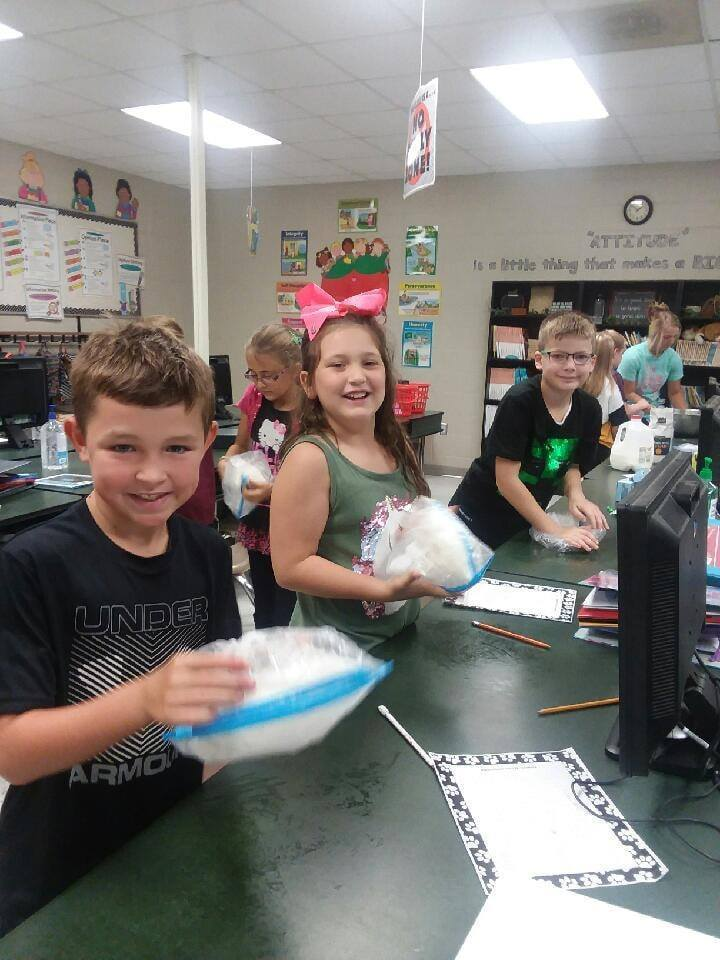 Mrs. Hoelscher's class shaking up their ice cream
