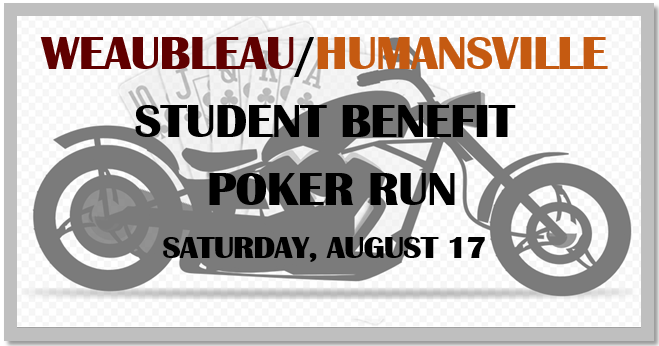 Please join us for our Student Benefit Poker Run on August 17th!